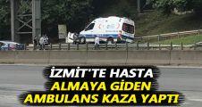 Ambulans Derince ilçe tabelasına çarptı: 3 yaralı