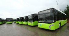 Doğalgazlı yeni otobüsler gelmeye başladı