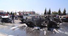 TEM'de kaza sonrası araçlar küle döndü