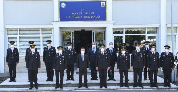 Vali Aksoy,  İl Jandarma Komutanı Aslan'a Veda Ziyaretinde Bulundu.