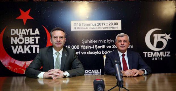 Vali ile Başkan  Kocaeli'yidemokrasi nöbetine davet etti