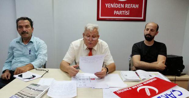 Yeniden refah partisi Kocaeli il başkanı Mehmet ARAS basının karşısına çıktı