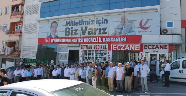 Yeniden refah partisi KOCAELİ teşkilatları bayramlaşmak için bir araya geldi.