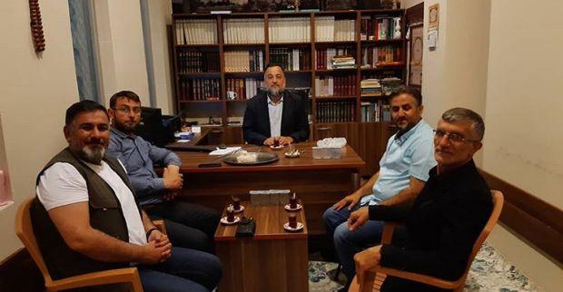 Yeniden Refah Partisinden merkez camiye ziyaret